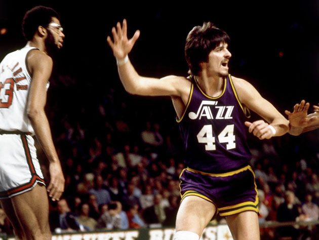 Pete 'Pistol' Pete Maravich of the appropriately-named New Orleans Jazz