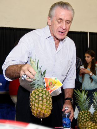 Pat Riley's got a real pineapple on his hands (Getty Images)