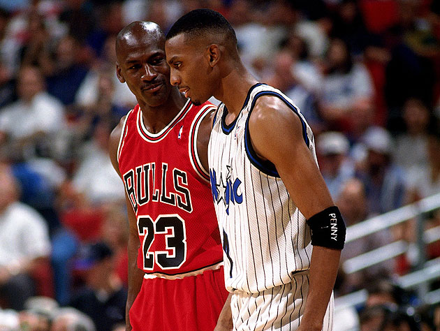 Penny Hardaway, and his Chicago Bulls counterpart (Getty Images)