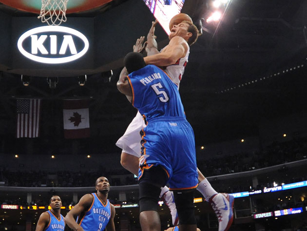 Kendrick Perkins, on a poster (Getty Images)