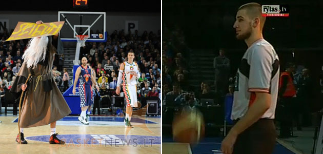Photographic evidence of Jonas Valanciunas dressing up like a wizard and a referee. (Images via www.basketnews.lt and www.lithuaniabasketball.com)