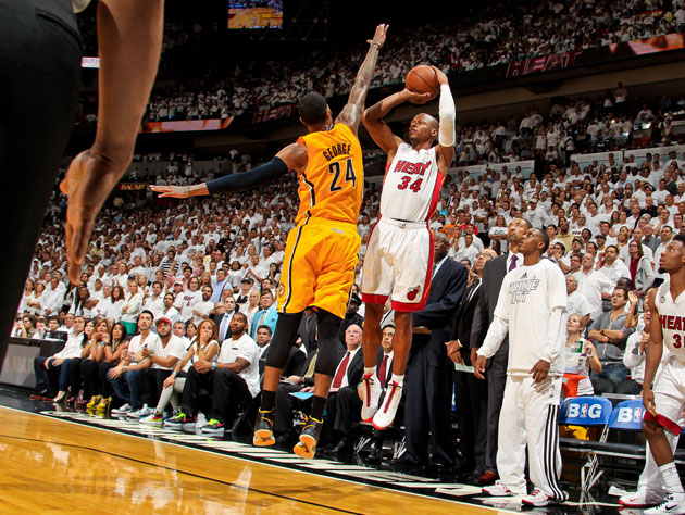 Ray Allen's shooting struggles against the Indiana Pacers continue