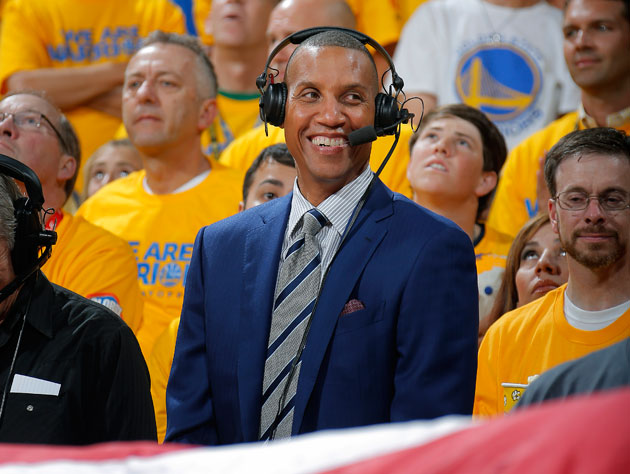 Reggie Miller sticks out (Getty Images)