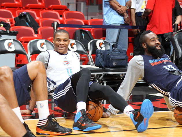 Russell Westbrook and James Harden are obviously not taking Game 3 seriously, so bet accordingly (Getty Images)