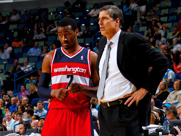 John Wall and Randy Wittman try to keep things afloat (Getty Images)