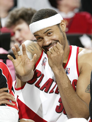 Rasheed Wallace giggles at the Wizards (Getty Images)