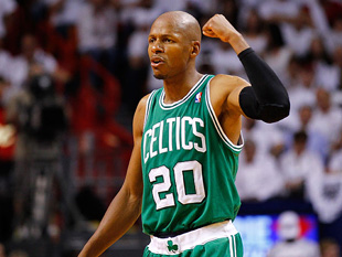 Ray Allen is curious about this 'flexing' business. (Getty Images)