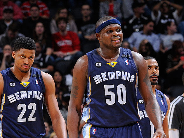Rudy Gay, Zach Randolph, Mike Conley and company are struggling. (D. Clarke Evans/NBA/Getty Images)