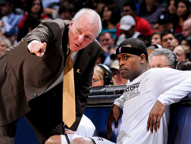 Gregg Popovich and Stephen Jackson rank teammates (Getty Images)