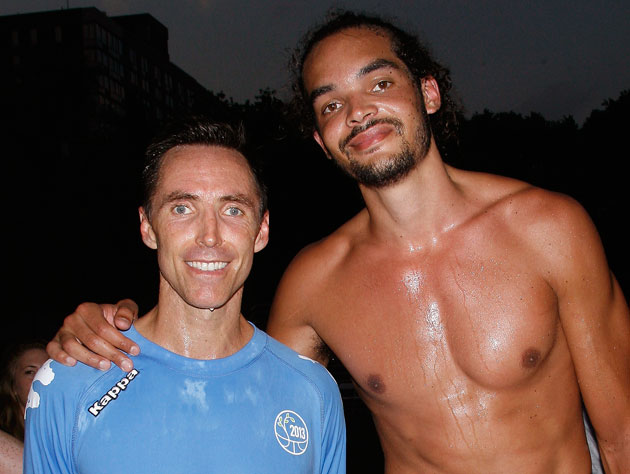 Steve Nash and Joakim Noah in June (Getty Images)