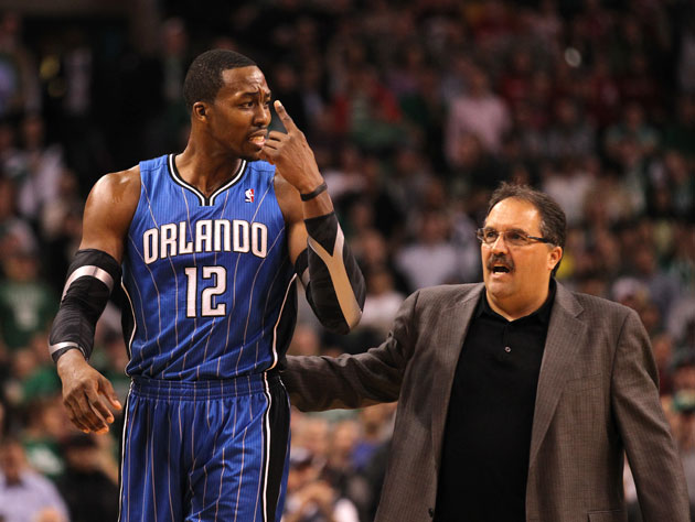 Dwight Howard and Stan Van Gundy, working together (Getty Images)