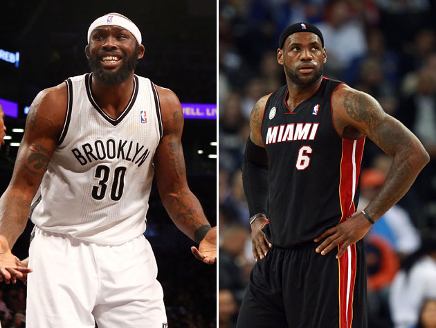 Seriously, Reggie Evans doesn't see the difference at all. (Getty Images)