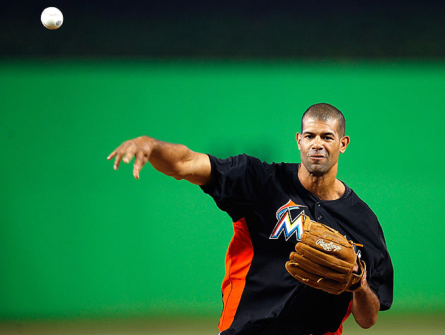 Shane Battier in the bullpen? No wonder the Miami Marlins are two games under .500. (Getty Images)