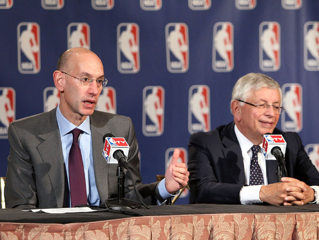 Adam Silver and David Stern discuss things that will take place 15 months from now (Getty Images)