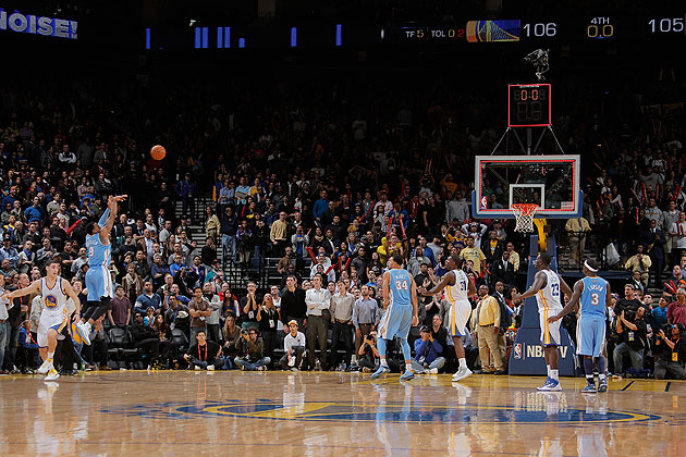 So close, Andre Iguodala, yet so far away. (Getty Images)