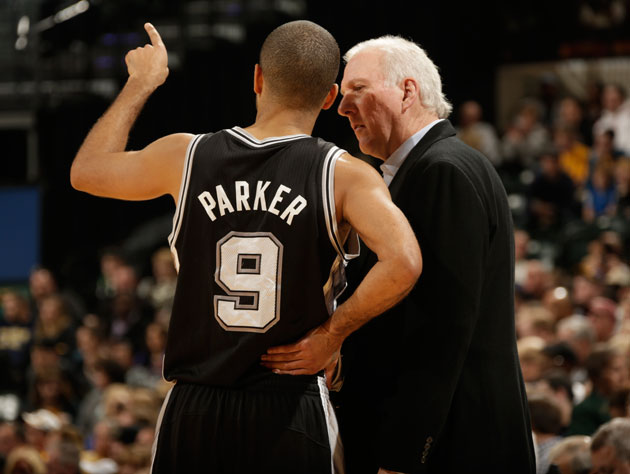 Gregg Popovich tells Tony Parker to move on, maaaan (Getty Images)