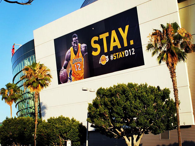 The Lakers have put up billboards in L.A. encouraging Howard to re-sign with them.