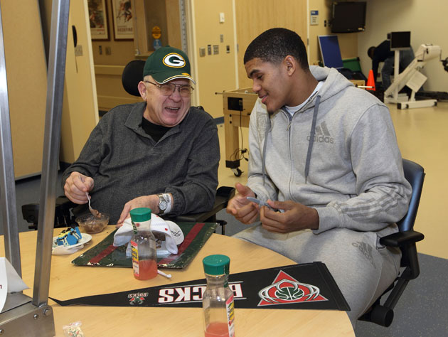 Tobias Harris at a Bucks function in 2012 (Getty Images)