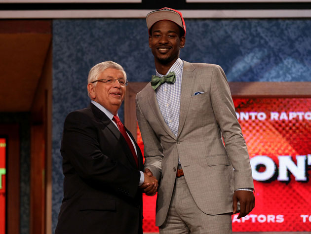 David Stern tells Terrence Ross to maybe buy an Audi? (Getty Images)