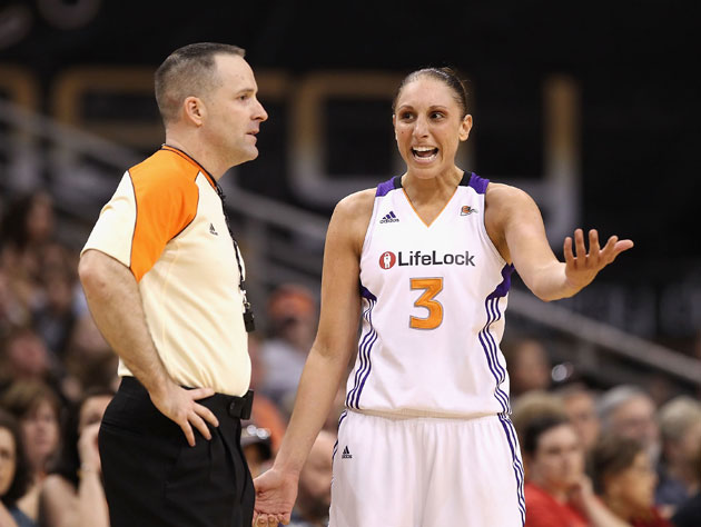 "Diana Taurasi tries to explain whatever a ""LifeLock"" is (Getty Images)"