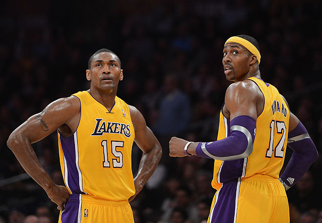The Lakers will be missing two frontcourt starters when they take on the Nets. (Harry How/Getty Images)