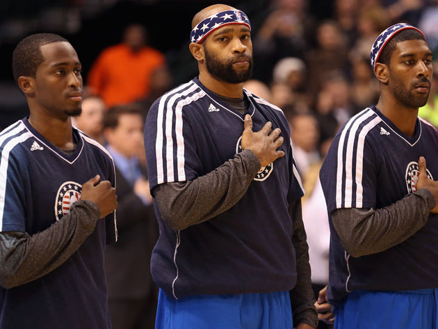 Vince Carter lines up for dinner at 5 at The Hall (Getty Images)