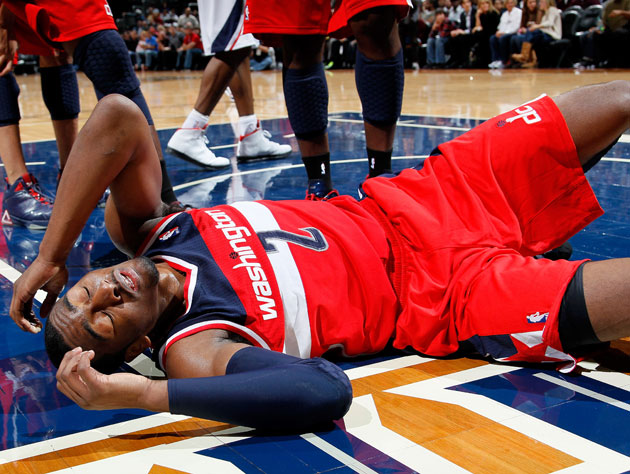 John Wall, rehabilitating (Getty Images)