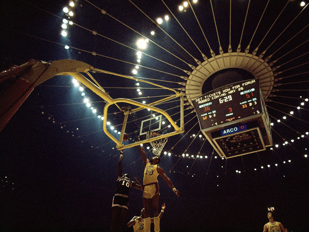 Wilt Chamberlain, at the Fabulous Forum (Getty Images)