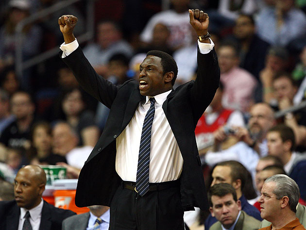 'We aren't yet champions, my frieeeend,' sings Avery Johnson. (Getty Images)