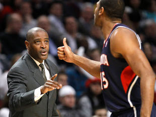 Whenever Larry Drew points a finger, just one comes back at him, and it is a nice one, surprisingly. (AP)