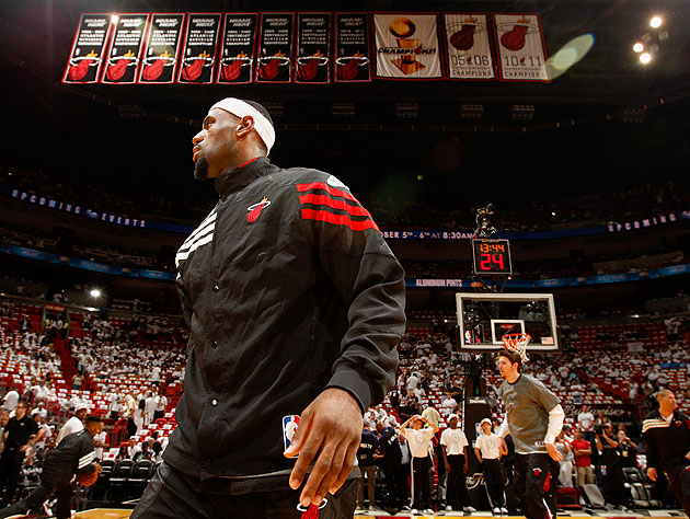 Will LeBron James and the Miami Heat hang another championship banner after Game 5? (Getty Images)