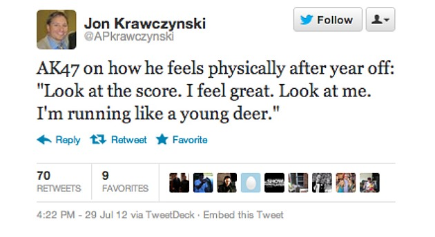 Andrei Kirilenko is basketball's answer to Bambi (via Twitter).
