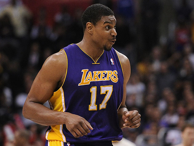 Andrew Bynum had something for everyone on Wednesday night. (Getty Images)