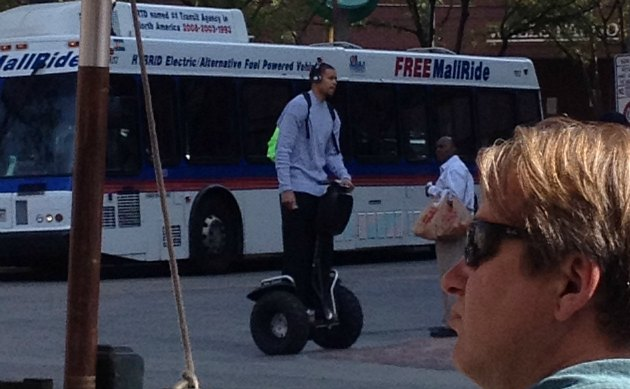 JaVale McGee cruises around Denver in style (via Deadspin).