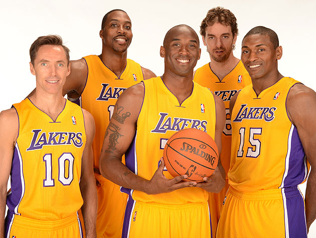 Not sure why you're all smiling -- Kobe already called dibs on being Carrie, Samantha and Mr. Big. (Getty Images)