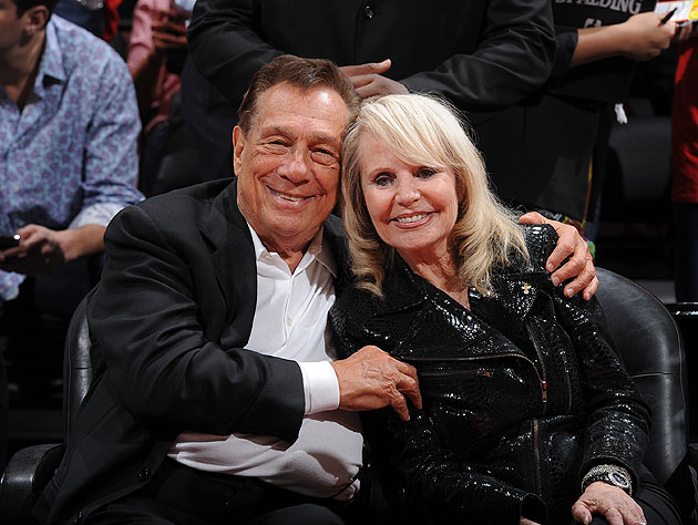 Donald Sterling and his wife Shelley Sterling (Getty Images)