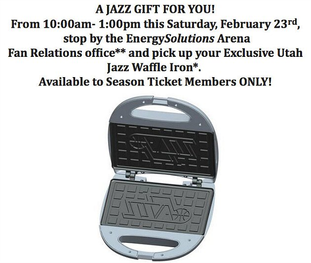 The Jazz change the breakfast world forever (via @Utah_JazzNation).