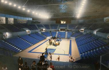 Artist rendering of UC Riverside's proposed new arena (photo via PE.com)
