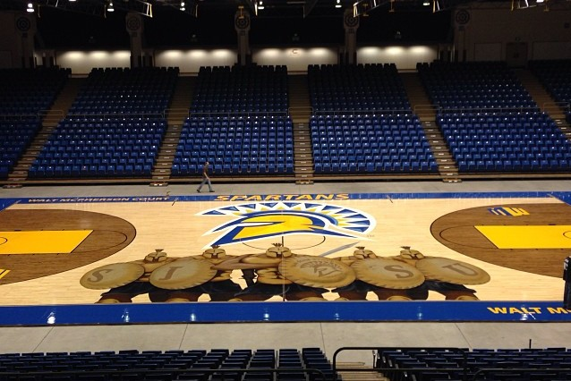 San Jose State's new basketball floor features five fierce ...