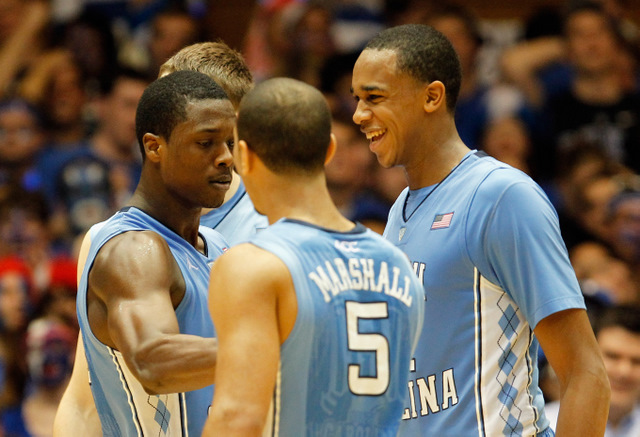 Kendall Marshall, John henson and Harrison Barnes (Getty Images)