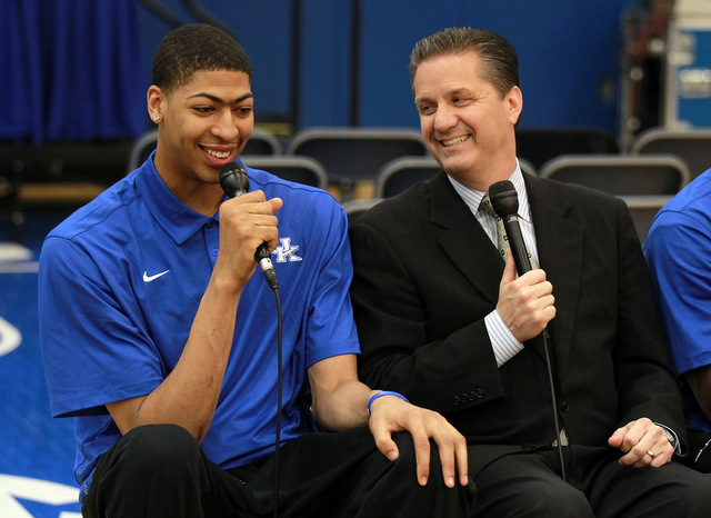 John Calipari and Anthony Davis (Getty Images)