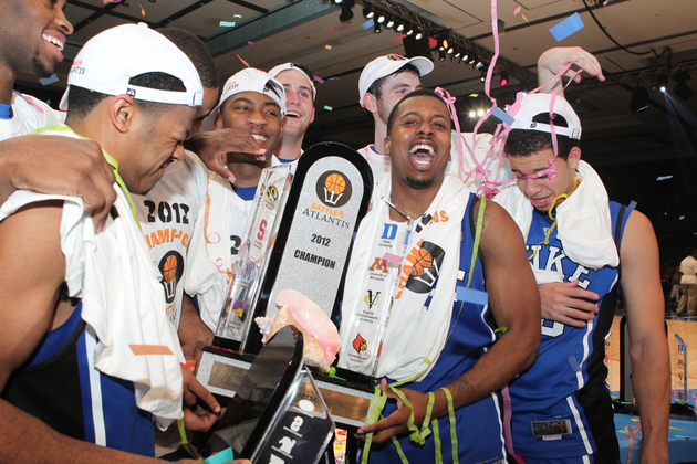 Duke celebrates its Battle 4 Atlantis title (Getty Images)