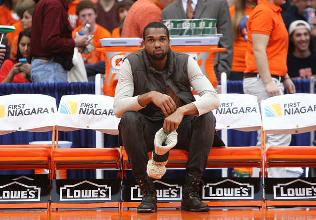 James Southerland will be in uniform for Syracuse today against St. John's (Getty Images)