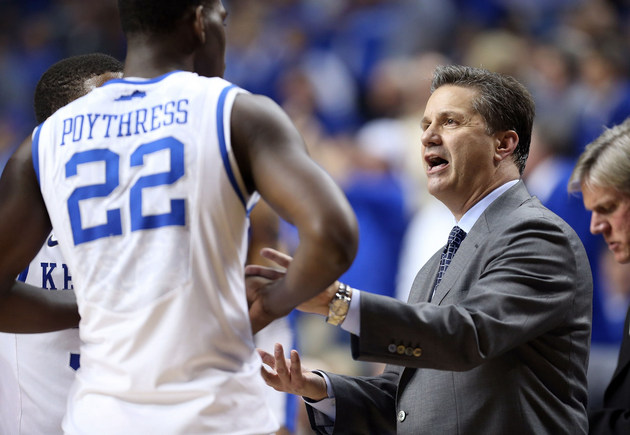 John Calipari and Alex Poythress (Getty Images)