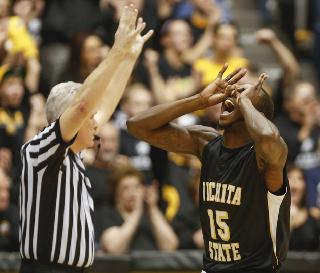 Wichita State's Nick Wiggins celebrates a 3-pointer (Getty Images)