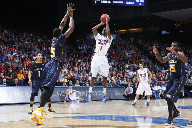 La Salle and Boise State play in a First Four game last March in Dayton (Getty Images)