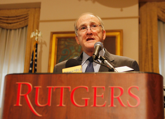 Rutgers president Robert L. Barchi addresses the behavior of ex-coach Mike Rice (Getty Images)