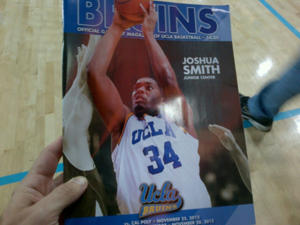 UCLA's GameDay Magazine on Wednesday against Cal State Northridge (via @BaxterHolmes)