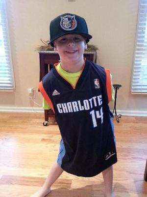 Avery shows off the jersey Michael Kidd-Gilchrist of the Charlotte Bobcats sent (via @ChrisHarriman24)