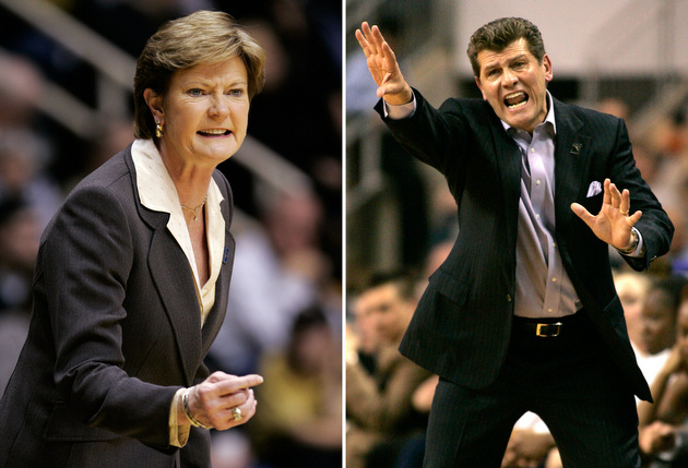 Pat Summitt and Geno Auriemma (AP)